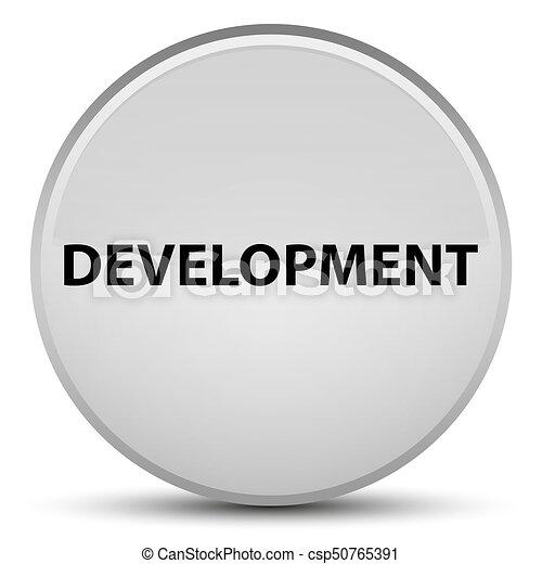 Development special white round button - csp50765391