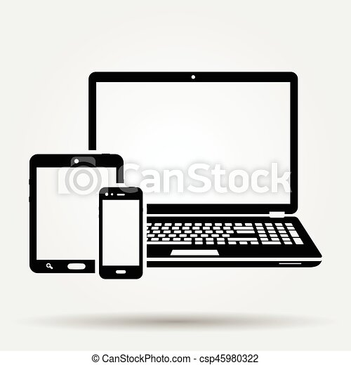 Devices icon - csp45980322