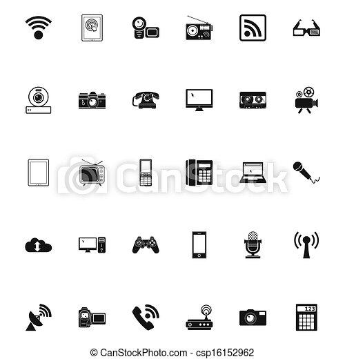 Devices icons. - csp16152962