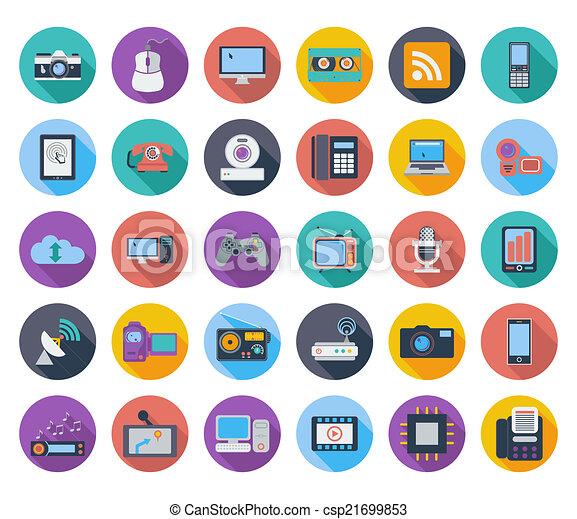 Devices icons. - csp21699853