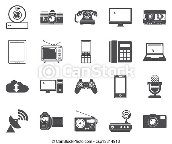 Devices icons. - csp13314918