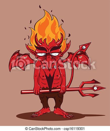 devil., ハロウィーン, モンスター, 赤 - csp16119301