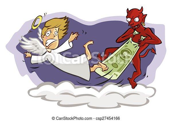 Devil and Angel - csp27454166