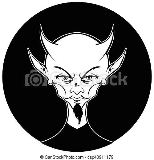 Devil Circle Monochromatic Version 1 - csp40911179