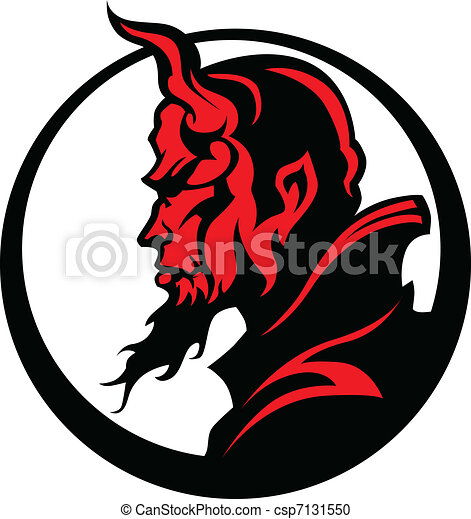 devil demon mascot head vector illu graphic vector image of rh canstockphoto com devil clipart free download devil clipart black and white