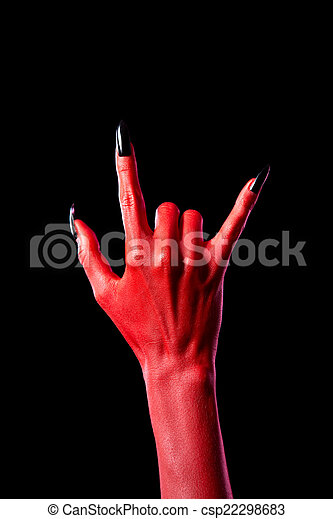 devil hand showing heavy metal gesture devil hand showing heavy