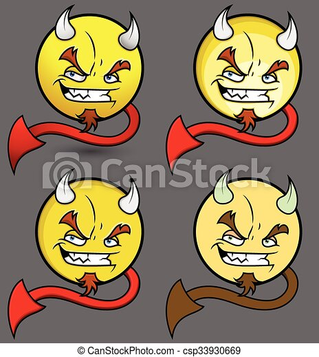 Devil Smiley Set - csp33930669