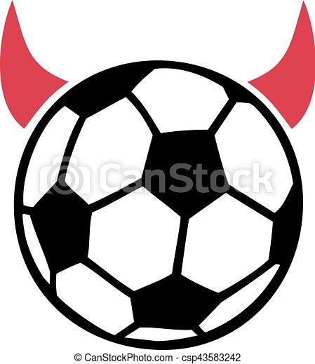 devil soccer ball eps vector search clip art illustration rh canstockphoto com Transparent Soccer Ball Clip Art Soccer Ball Motion Clip Art