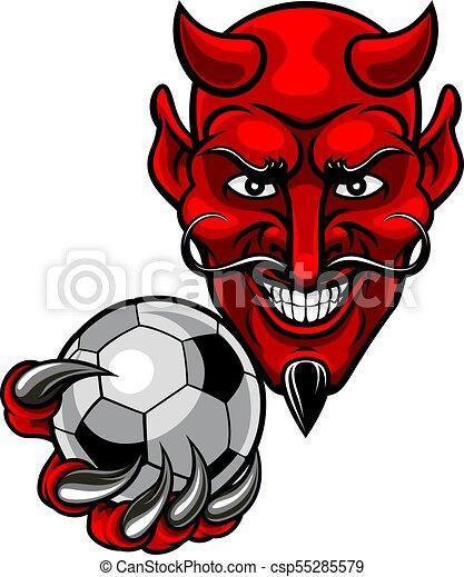 Devil Soccer Football Mascot - csp55285579