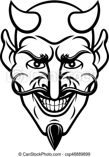 Devil Sports Mascot - csp48889899