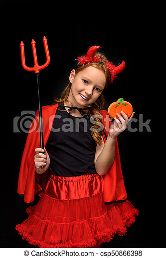 Halloween Costume 398.Devil With Pitchfork And Cookie