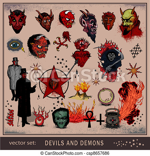 Devils and demons - csp8657686