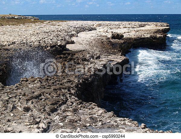 Devils Bridge on Antigua Barbuda - csp5993244