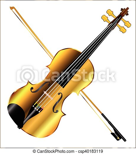 devils golden fiddle a golden violin and bow isolated over a white rh canstockphoto com irish fiddle clipart fiddle player clipart