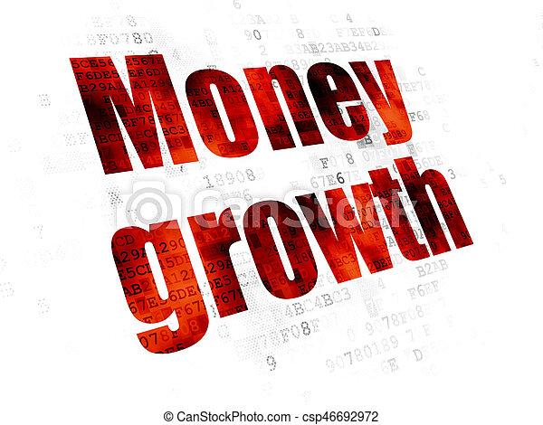 devise argent, croissance, fond, numérique, concept: - csp46692972