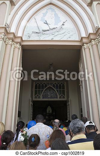 Devotees Entering Church - csp1002819