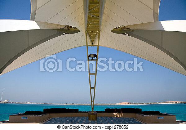 dhabi, νησί , μοντέρνος , abu , θάλασσα , δομή , αποτελώ το πλαίσιο  - csp1278052
