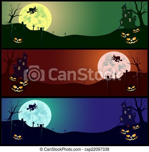 dia das bruxas, cartão - csp22097338