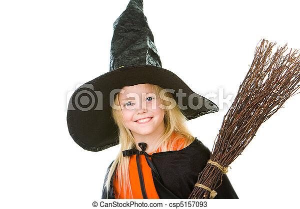 dia das bruxas, criança - csp5157093