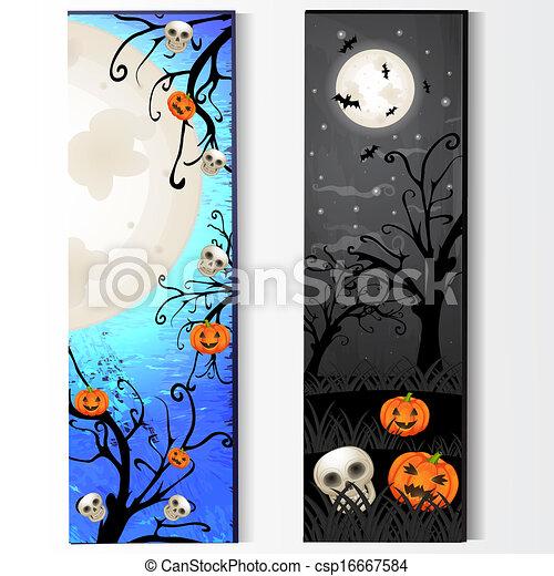 dia das bruxas, esqueleto, cartão - csp16667584