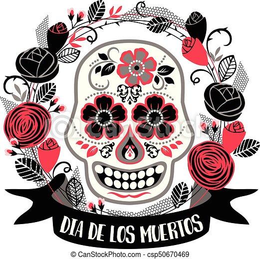 dia de los muertos day of the dead vector design element dia de
