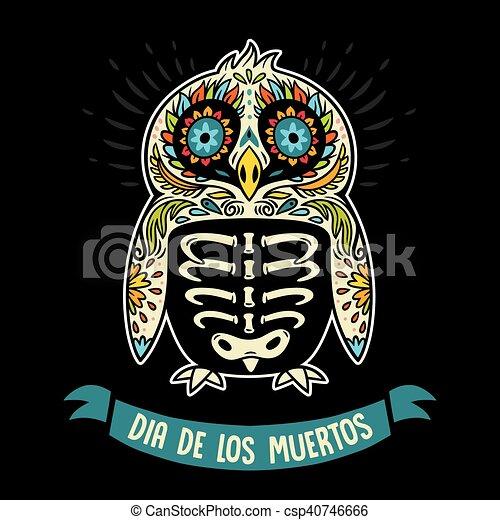 Dia de los muertos greeting card with sugar skull penguin greeting dia de los muertos greeting card with sugar skull penguin csp40746666 m4hsunfo