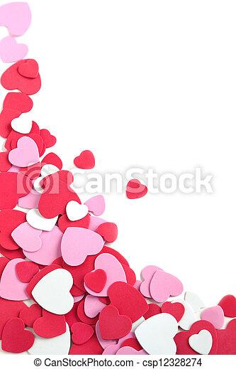 dia valentine, hearts., fundo, casório, ou - csp12328274