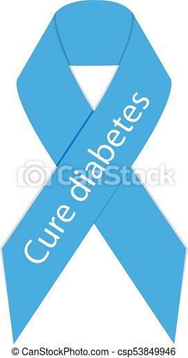 imagen de vector de cinta de diabetes tipo 1