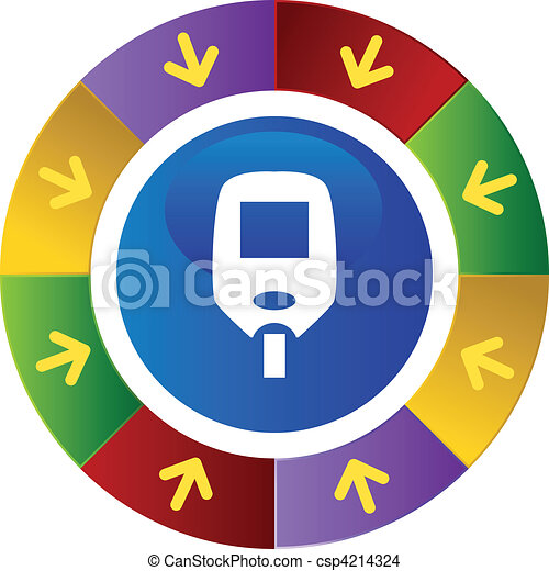 Diabetes Test Monitor - csp4214324