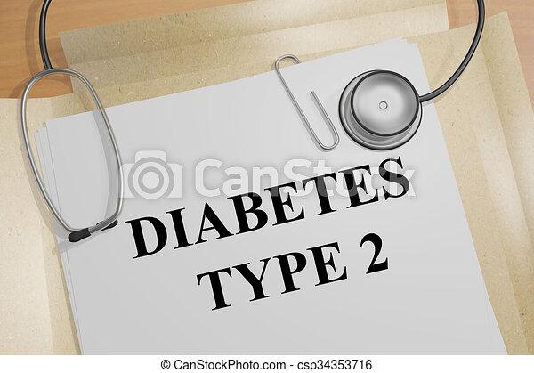Diabetes Type 2 concept - csp34353716