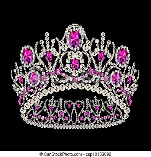 diadem corona feminine wedding with ruby - csp10153092