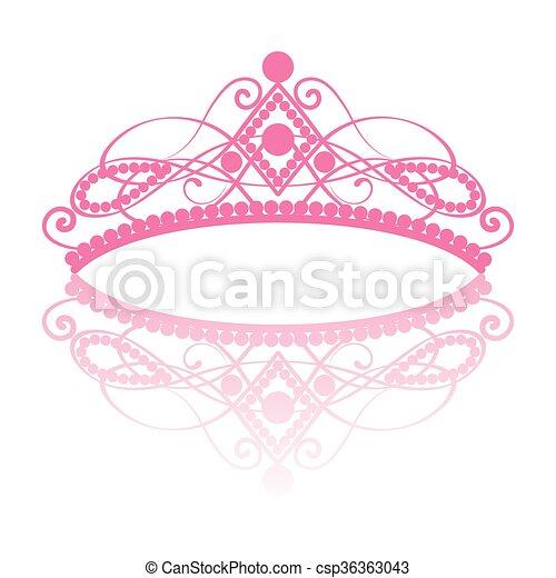 diadem. elegance feminine tiara with reflection - csp36363043