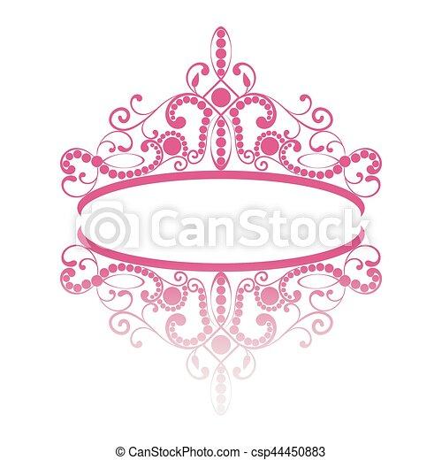 diadem. elegance feminine tiara with reflection - csp44450883