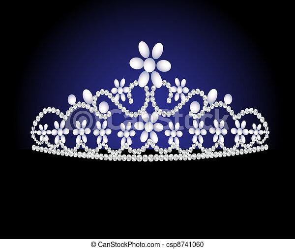 diadem feminine wedding with pearl - csp8741060