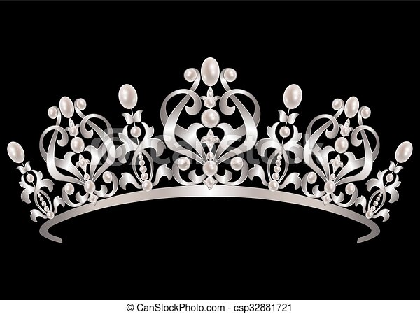 Diadem with pearls - csp32881721