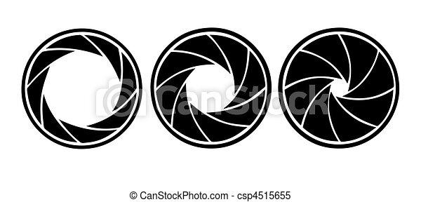 diaframma, bianco, vettore, silhouette, fondo - csp4515655