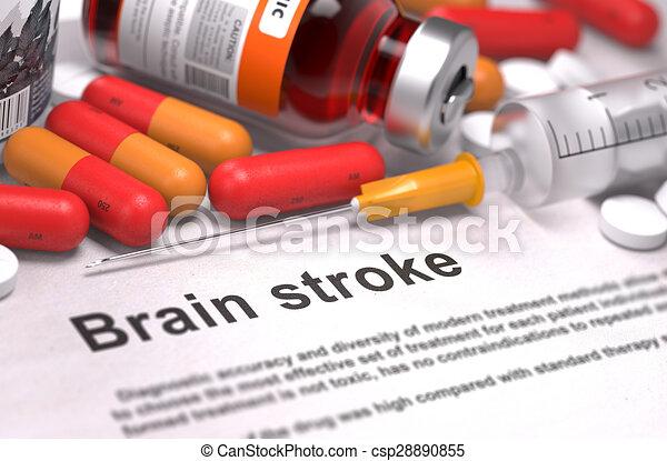 Diagnosis - Brain Stroke. Medical Concept.  - csp28890855