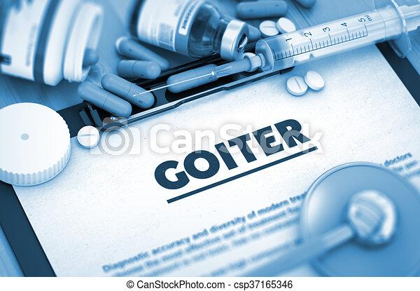 diagnosis., orvosi, concept., goiter - csp37165346