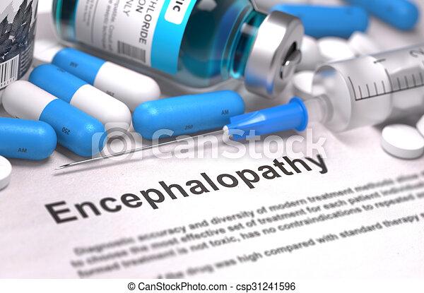 diagnosis., orvosi, concept., encephalopathy - csp31241596