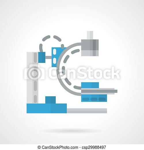 Diagnostic machine flat vector icon - csp29988497