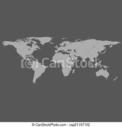 Diagonal lines world map diagonal lines striped world vector map diagonal lines world map csp21197102 gumiabroncs Choice Image