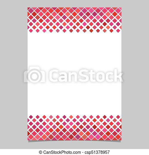 Diagonal square pattern page border template vector design diagonal square pattern page border template vector design from squares in red tones with white voltagebd Images