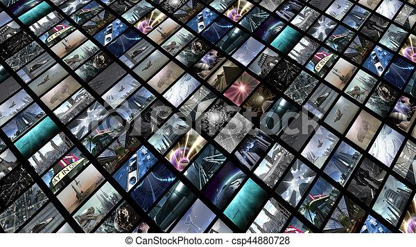 Muro de video, diagonalmente - csp44880728