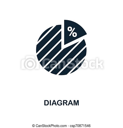 Diagram icon. Monochrome style design from business icon collection. UI. Pixel perfect simple pictogram diagram icon. Web design, apps, software, print usage. - csp70871546