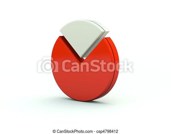 Diagram icon. Red series - csp4798412