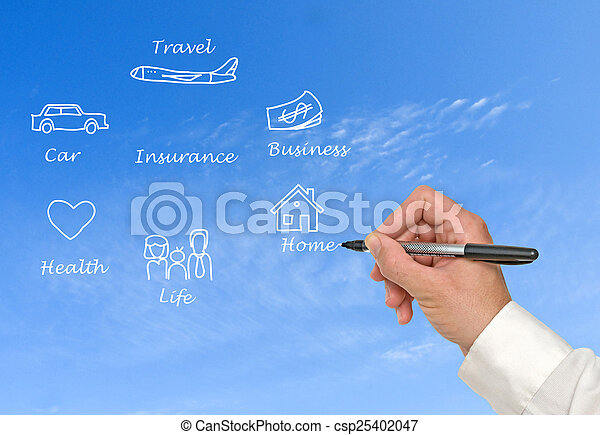 Diagram of insurance - csp25402047