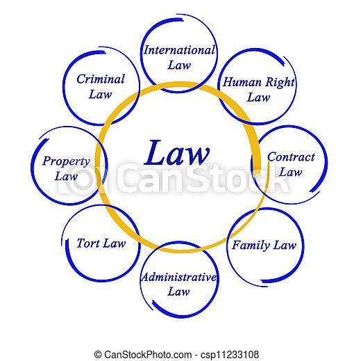 Diagram of law - csp11233108