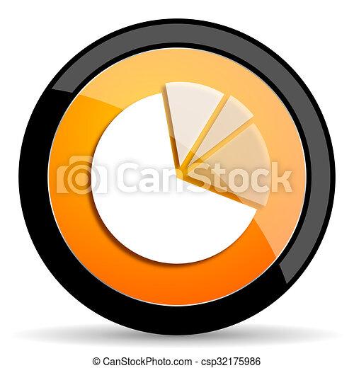 diagram orange icon - csp32175986