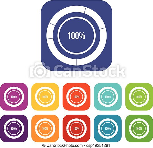 Diagram pie chart icons set vector illustration in flat style in diagram pie chart icons set csp49251291 ccuart Choice Image