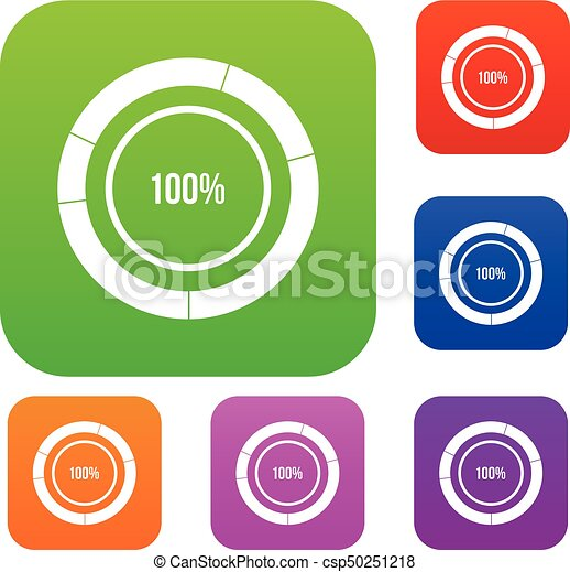 Diagram pie chart set collection diagram pie chart set icon in diagram pie chart set collection csp50251218 ccuart Choice Image